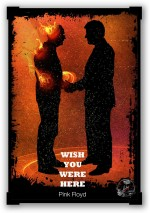 PosterGuy Posters Wish You Were Here Pink Floyd Paper Print