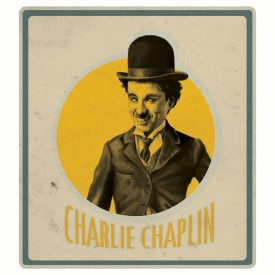 Chaplin - Yellow Circle Paper Print - Small, Rolled