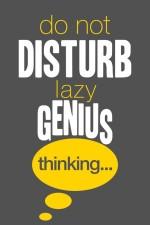 Posterhouzz Posters Posterhouzz Do not disturb lazy Genius Paper Print