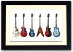Artifa Posters Guitar Collection Fine Art Print
