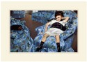 Small Girl in the Blue Armchair Fine Art Print - Small