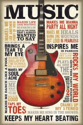 Myhome Posters Active Music Me Love Paper Print