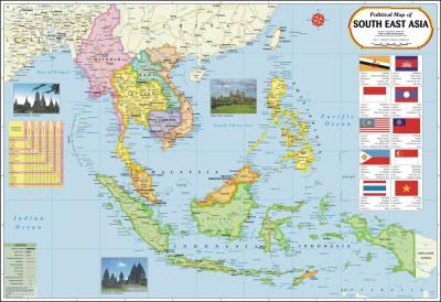 Vidya Chitr Prakashan Posters South East Asia Map Paper Print