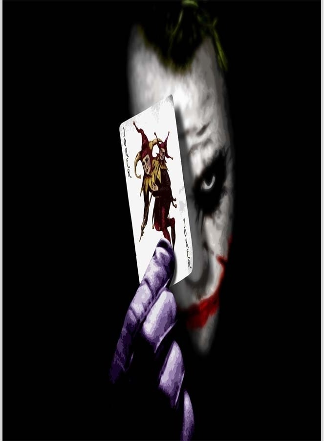 Joker With Joker Card Poster 12 X 18 Inches By Shopkeeda Paper Print