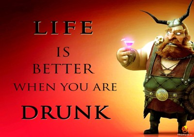 Bheja Fry Posters Bheja Fry Poster Life is better when you are drunk Paper Print