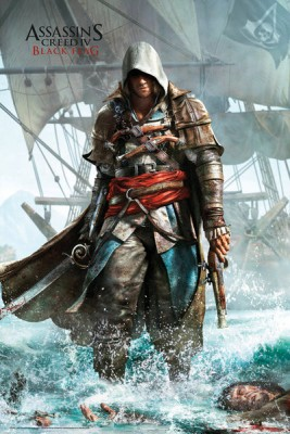 Assassins Creed 4 Shore Paper Print Medium
