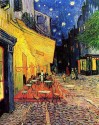 The Cafe Terrace On The Place Du Forum, Arles, At Night Small By Van Gogh Canvas - Small