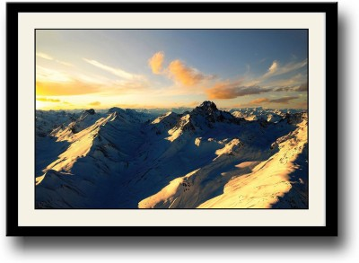 Artifa Posters Beautiful Snow Covered Mountains Fine Art Print