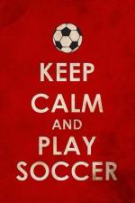 Posterhouzz Posters Posterhouzz Keep Calm & Play Soccer Paper Print