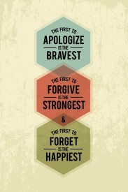 Athah Fine Quality Poster The First To Apologize Is The Bravest Fine Art Print Paper Print