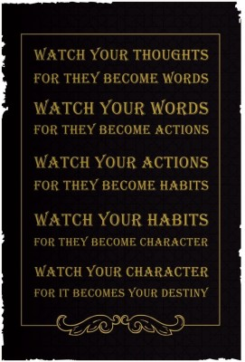 Watch Your Thoughts. For They Become Words Poster - Small
