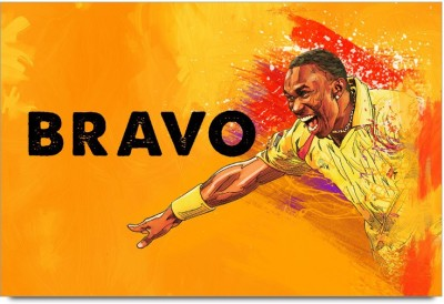 ShopMantra Posters Dwayne Bravo The Superking Laminated Poster Paper Print