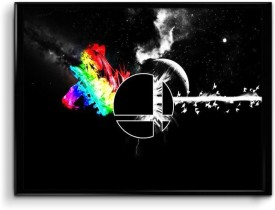 Athah Fine Quality Poster The dark side of the moon Paper Print