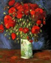 Vase With Red Poppies Large By Van Gogh Canvas - Large