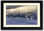 Artifa Posters Snow Covered Mountains and Beautiful Sky Fine Art Print