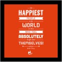 The Happiest People - Brian Tracy Framed Poster Poster - Small