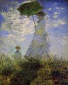 Woman With A Parasol Small By Monet Fine Art Print - Small