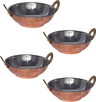 Stainless Steel Kadhai 0.460 L (Pack of 4)
