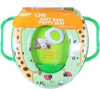 Babyofjoy Soft Baby Giraffe Prints With Side Handle Potty Seat (Multicolor)