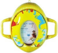 Babyofjoy Soft Baby Elephant Prints With Side Handle Potty Seat (Multicolor)