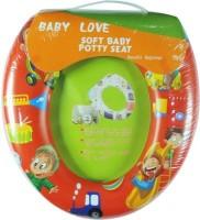 Babyofjoy Soft Baby Picnic Prints Potty Seat (Red)