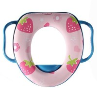 Babyofjoy Soft Baby Strawberry Prints With Side Handle Potty Seat (Multicolor)