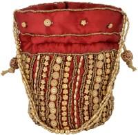 HanumantCreations Pouch Potli Bags Potli Red, Golden