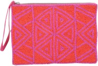 Diwaah Diwaah!! Pink Beaded Embroidery Hand Pouch. Pouch Pink