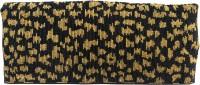 KAWAII Leopard Gold Beaded Double Fold Hand Bag Pouch Gold