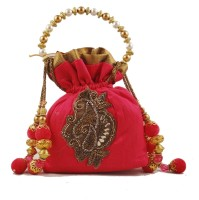 "Conceptree Women'S Designer Bags By ""Studio Savvy"" Potli Hot Pink - PPSEC877YXCMPC7W"