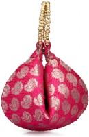 Oleva Silk Potli - Pink