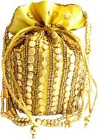 Giftpiper Bead Pouch/Potli Bag - Golden Potli Golden