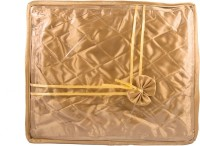 Annapurna Sales Golden Small Satin Saree Cover Pouch Golden