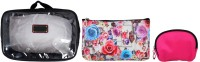 Super Drool Black Floral Burst Multiutility Pouch Black