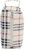 Bagaholics Multi Utility Pouch Pouch White And Beige With Black Lines
