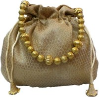 Bhamini Small Ethnic Brocade Potli Gold - 01
