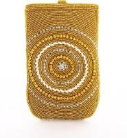 LadyBugBag Designer Golden Silk Mobile Pouch Gold