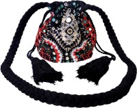 Diwaah Hand Crafted Multicolor Beaded Bag Potli Black