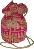 AADOO Handmade Designer Pink Potli Bags Potli Pink