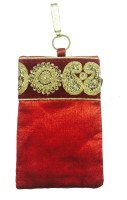 Loops N Knots Red Embroidered M Waist Bag Red
