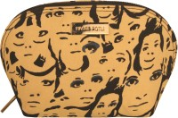 Haute Potli AW15-CPFacePrint Pouch Beige-03