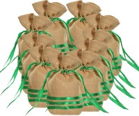 KOHL Set Of 10 Potli Bags Large Green Wristlet Green