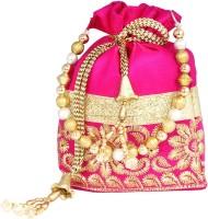 PrettyKrafts Fashionable Pink Potli Pink