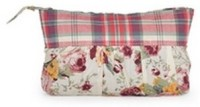 Use Me Chequered Floral Pouch - Multicolor