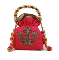"Conceptree Women'S Designer Bags By ""Studio Savvy"" Potli Hot Pink"