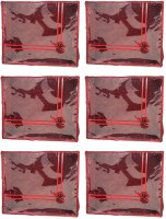 Annapurna Sales Maroon Satin Large Saree Cover - Set Of 6 Pcs. Pouch Maroon
