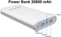 Systene Portable Dual USB Port (PB-28W) Power Bank 20800 MAh (White)