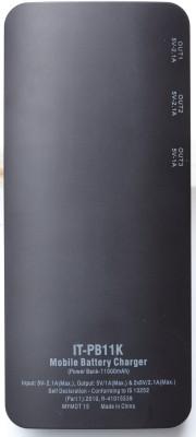 Intex IT-PB11K Intex IT-PB11K 11000 mAh Power Bank- Black 11000 mAh (Black)