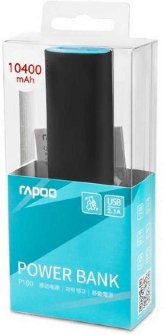 Rapoo P100 10400mAh Power Bank