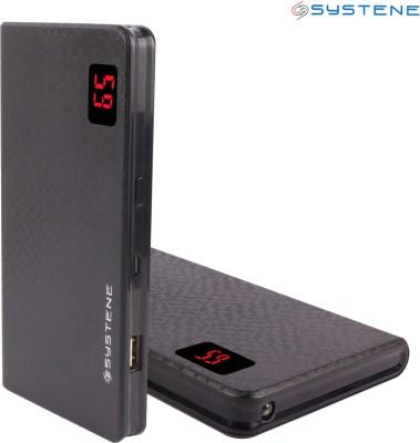 Systene Portable Dual USB Port (PB-13KSB) Power Bank 13000 MAh (Black)